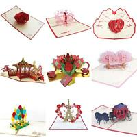 Birthday Wedding Aniversary Father's Day 3D Pop Up Greeting Thank You Card Surp