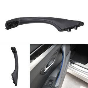 1x Left Side Leather Door Trim Pull Handle Fit BMW 5 series F10 F11 F18 Black