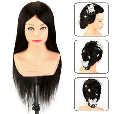 """Head Doll 24"""" 100% Real Human Hair Professional Training Mannequin head NEW"""