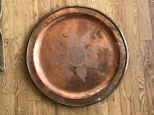 Large Copper And Brass Serving Tray Charger