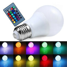 E27 Dimmable RGB LED light Color Changing Bulb with Remote Control 85-265V JN