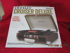 New ListingCrosley Cruiser Deluxe Vintage 3-Speed Bluetooth Suitcase Turntable, Brown