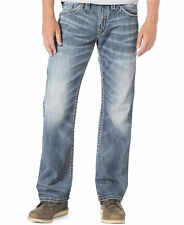 NWT! Silver Jeans CO. ZAC Light/Medium Wash Relaxed Fit Straight Leg Jeans 34x32
