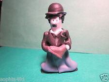 Handmade Ceramic Charlie Chaplin Figurine with Shoe from movie The Gold Rush