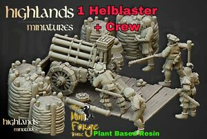 Empire Helblaster Volley Gun, Oldhammer Fantasy Highlands Miniatures