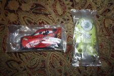 Kelloggs Disney CARS McQueen Mike Monsters Inc Mini Small Plush Stuffed Animal