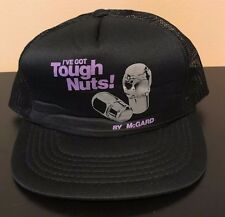 Vintage 80s McGard Lug Nuts Tough Nuts Snapback Black Hat Funny Auto Car Racing