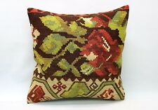 Kilim Sofa Pillow, 20x20 in, Decorative Ethnic Cushion, Handmade Vintage Pillow