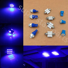 11PCS LED Lights Interior Package for T10 & 31mm Map Dome + License Plate Blue