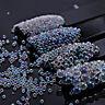 Beauty AB Clear Crystal Glass Caviar Beads Tiny 3D Micro Nail Art Manicure Decor