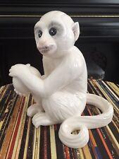 Porcelain Ceramic White Capuchin Monkey — As seen at Elvis Presley's Graceland!