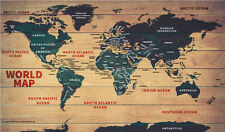 "World Wood Map (Wall Map) 36"" x 21.25"" Laminated"