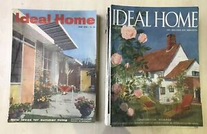 12 X Ideal Home Magazine 1957-1958 VINTAGE, Used