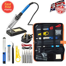 Soldering Iron Kit Electronics Welding Irons Tool 60W Adjustable Temperature UK
