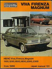 Vauxhall Viva Firenza & Magnum HB HC from 1966 Intereurope Repair Manual