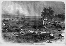 CIVIL WAR GETTYSBURG HARVEST OF DEATH 1865 DEAD SOLDIERS AND HORSES BATTLEFIELD