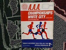 1967 athlétisme programme-AAA Championnats-White city stadium