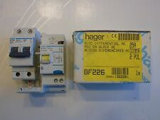 HAGER Réf BF226 + NF225 DISJONCTEUR DIFFERENTIEL 2P 25A 300mA TYPE AC 230V NEUF