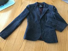 Dolce Gabbana D&G Woman's Jacket Coat Blazer Size EU 40 Cotton Dark Grey Specks