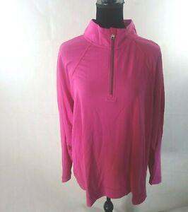 Lauren Ralph Lauren Jersey Quarter-Zip Pullover Womens Pink Plus Size 3X RL-110