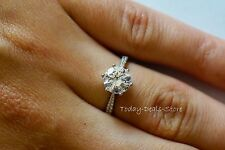 BRILLIANT ROUND CUT 2 CT WEDDING ENGAGEMENT RING SI1 D 14k WHITE SOLID REAL GOLD