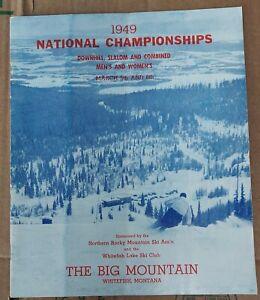 1949 National Championships Skiing Big Mountain Montana Program