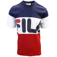 FILA Men's Classic Navy White Red Vialli S/S Tee (S01B)