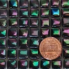8mm Mosaic Glass Tiles - 2 Ounces About 87 Tiles - Iridescent Black