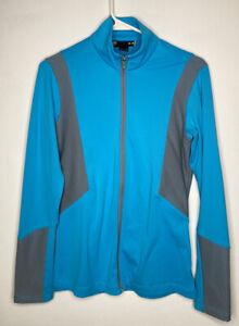 Under Armour Zip Up Jacket Shirt Women's Size Medium Loose Aqua Blue