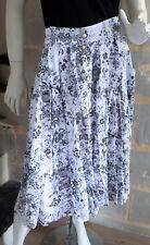 Jupe Vintage blanche et grise motif floral Taille M