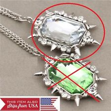 CLEAR ONCE UPON A TIME GLINDA CLEAR NECKLACE WICKED WITCH OZ  ZELENA GREEN