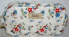MAKE UP COSMETIC BAG FLORAL OIL CLOTH ZIP SUMMER DAISY RANGE BY LEONARO