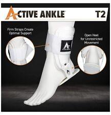 "Active Ankle Brace T2 White Mens 5-8.5 Women's 6.5-9.5"""