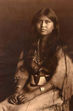 Vintage Framed Print - Native American Indian Woman (Traditional Photo Picture)