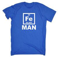 Funny Novelty T-Shirt Mens tee TShirt Fe Iron Man Periodic