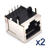 2x Connecteur à souder RJ45 femelle Network Ethernet /female connector to solder