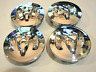 Silber Chrome 4x 64mm Dodge Ziege Allufelge Nabenkappen Felgendeckel Satz