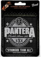 Official Licensed Merch Woven Sew-on PATCH Metal Rock PANTERA Stronger Than All