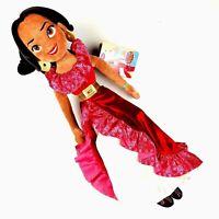 Disney Store Glitter Ruffled Skirt Elena of Avalor Plush Doll Toy 20 Inch