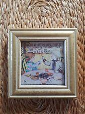 "Adorable Mary Engelbreit ""Wishbone"" Print Gold Framed 4"" x 4"""