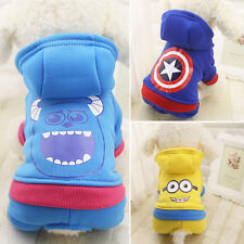 Dog Pet Clothes Puppy Costume Hoodie Hooded Jacket Coat Pocket Jumpsuit Apparel