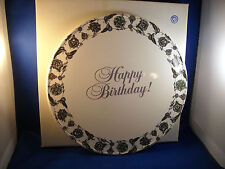 AVON PRESIDENT'S CLUB HAPPY BIRTHDAY LOGO MATCHING CAKE PLATE & SERVER W/BOXES