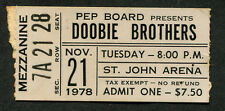 1978 Doobie Brothers Concert Ticket Stub Columbus Oh Michael McDonald Minute by