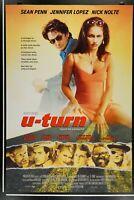 U-TURN  U TURN 27x40 Original DS Rolled Movie Poster 1997 PENN NOLTE LOPEZ STONE