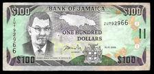 World Paper Money - Jamaica $100 Dollars 2005 Prefix Zu @ F-Vf