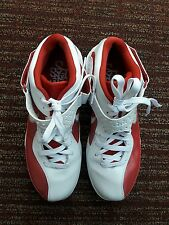 Mens sz 13 Nike Zoom Lebron Soldier V TB White Red Basketball Shoes 454141-105
