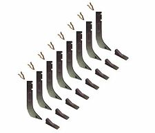 8 - Gannon Scraper Box Shanks w Scarifier Teeth & Clips - H920 , 8075 , K1306