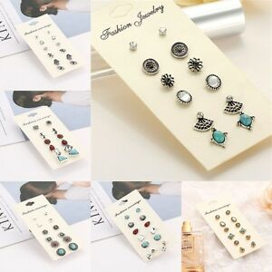 Fashion New Women Girls Silver/Gold Plated Stud Earrings Various Shape Styles