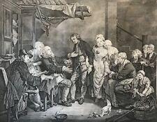 L'Accordée de Village Jean-Jacques FLIPART d'après Greuze tirage XIXe 66 cm x 56