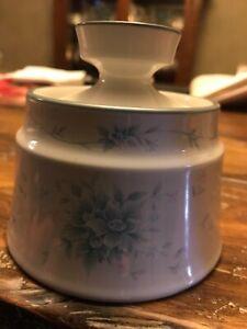 Noritake Stoneware Penzance 8358 Blue Pink Floral Sugar Bowl